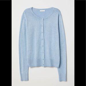 ☀️3/15$! H&M Blue Fine Knit Cardigan